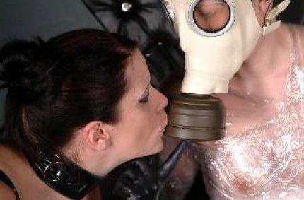 gratis brueste, latex maske